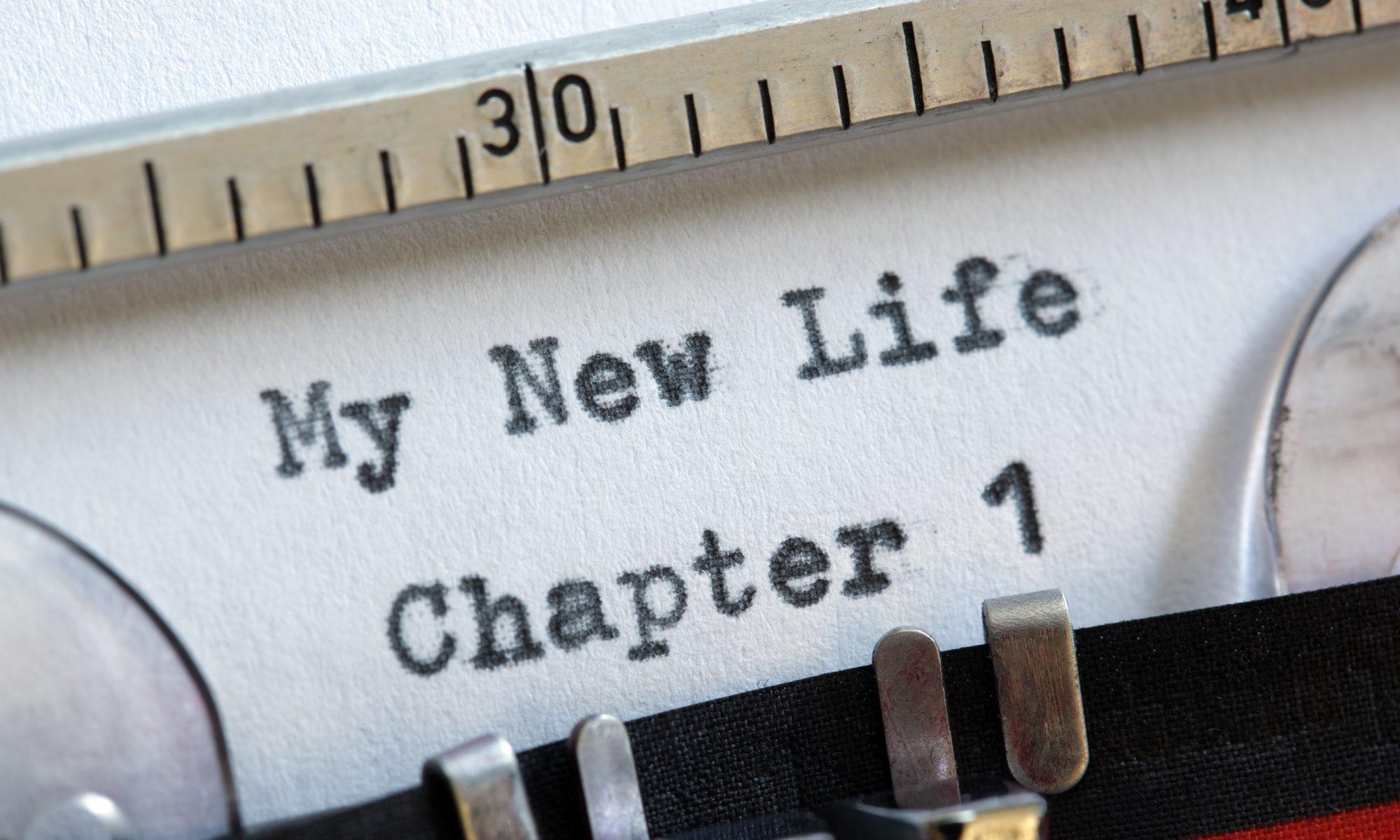 My new life Chapter 1 - Vorsätze auf der Schreibmaschine getippt